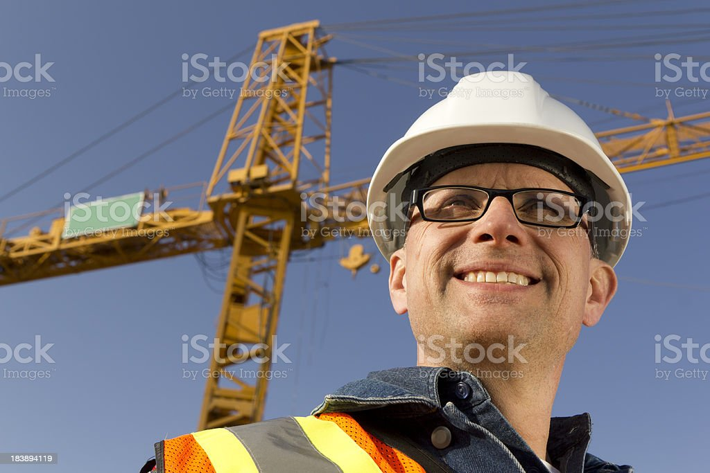Safety and a Crane royalty-free stock photo