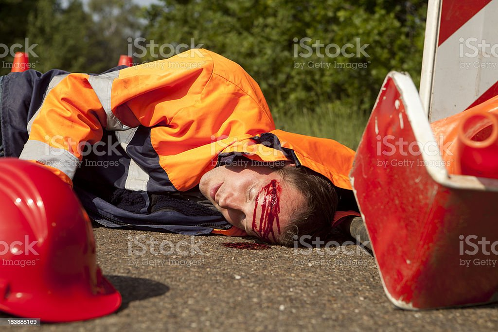 Safety and accident at work. royalty-free stock photo