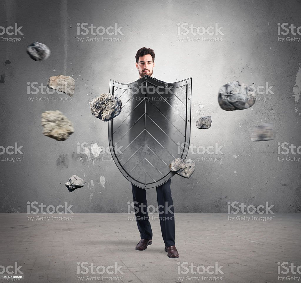 Safety and protection in business stock photo