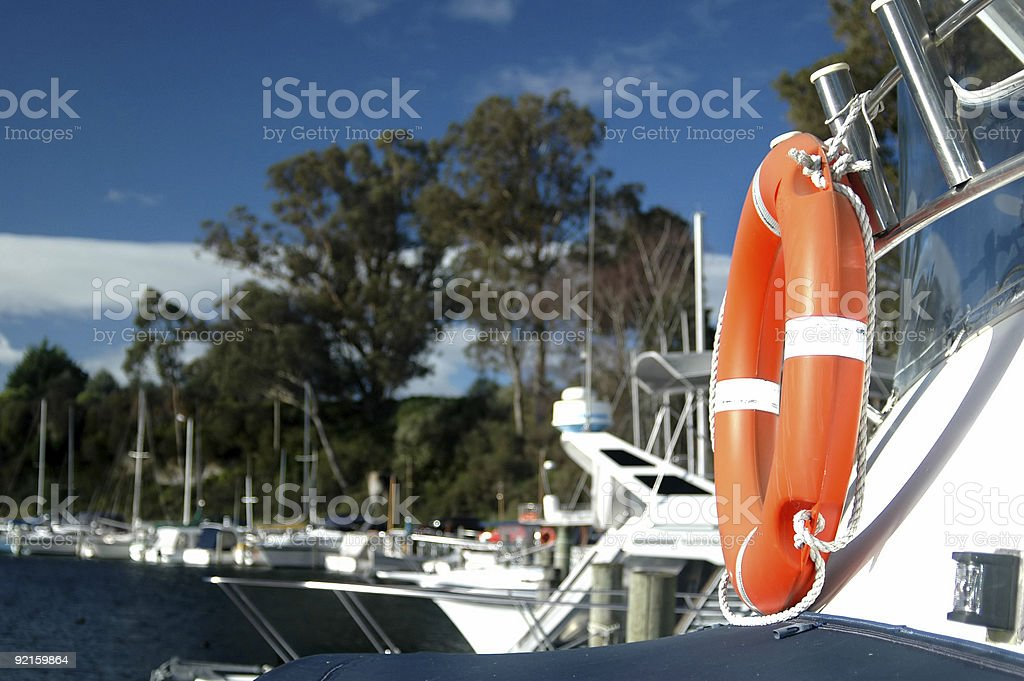 Safety at Sea stock photo
