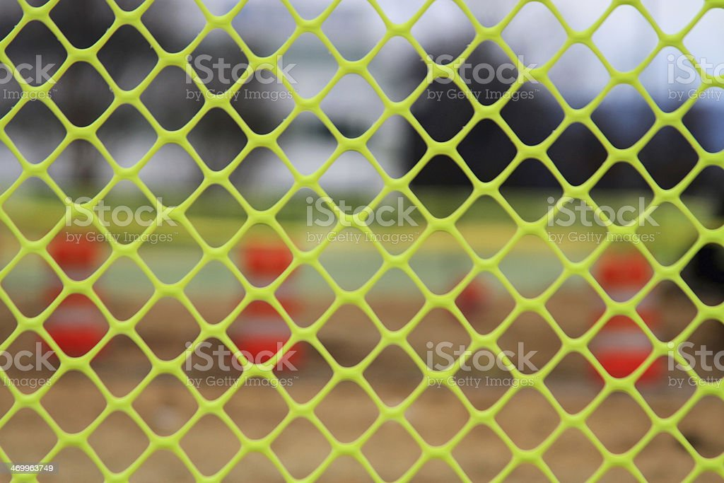 Safety barrier stock photo