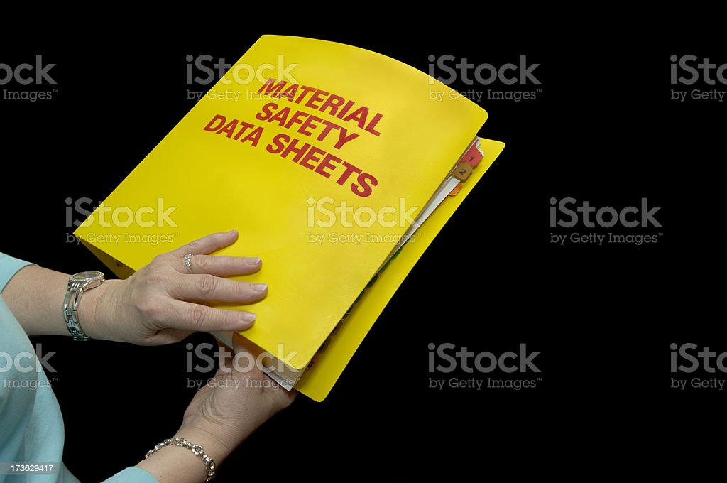 MSDS Safety Binder front stock photo