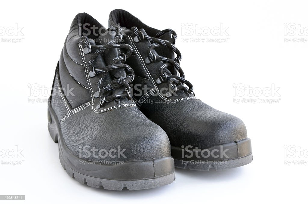 Safety boots isolated on white stock photo