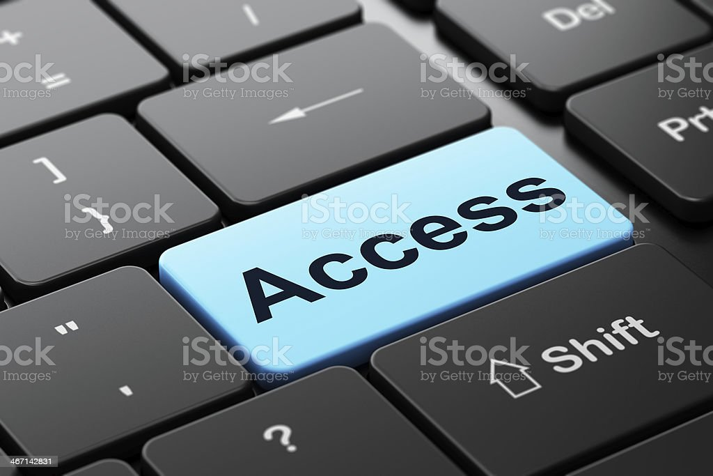 Safety concept: Access on computer keyboard background royalty-free stock photo