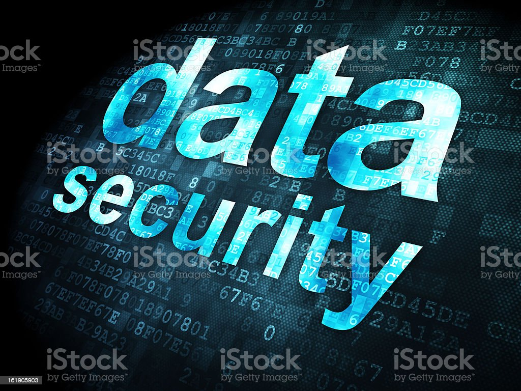 Safety concept: data security on digital background royalty-free stock photo