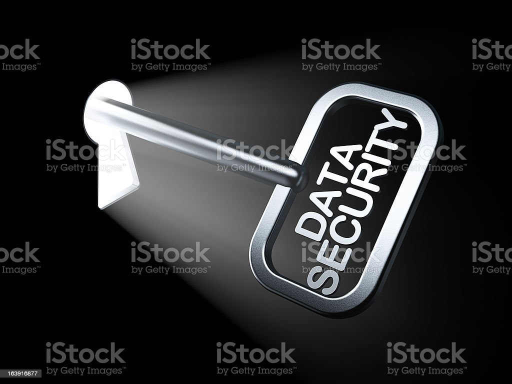 Safety concept: Data Security on key royalty-free stock photo