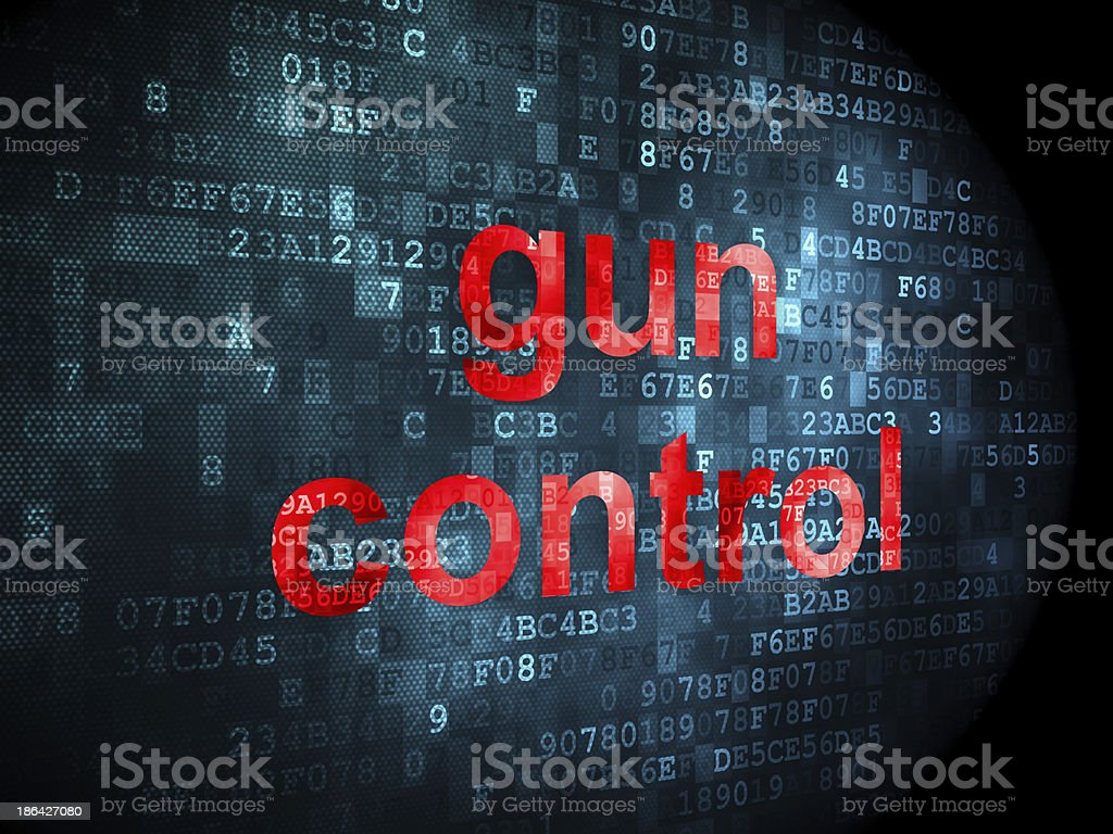 Safety concept: Gun Control on digital background royalty-free stock photo