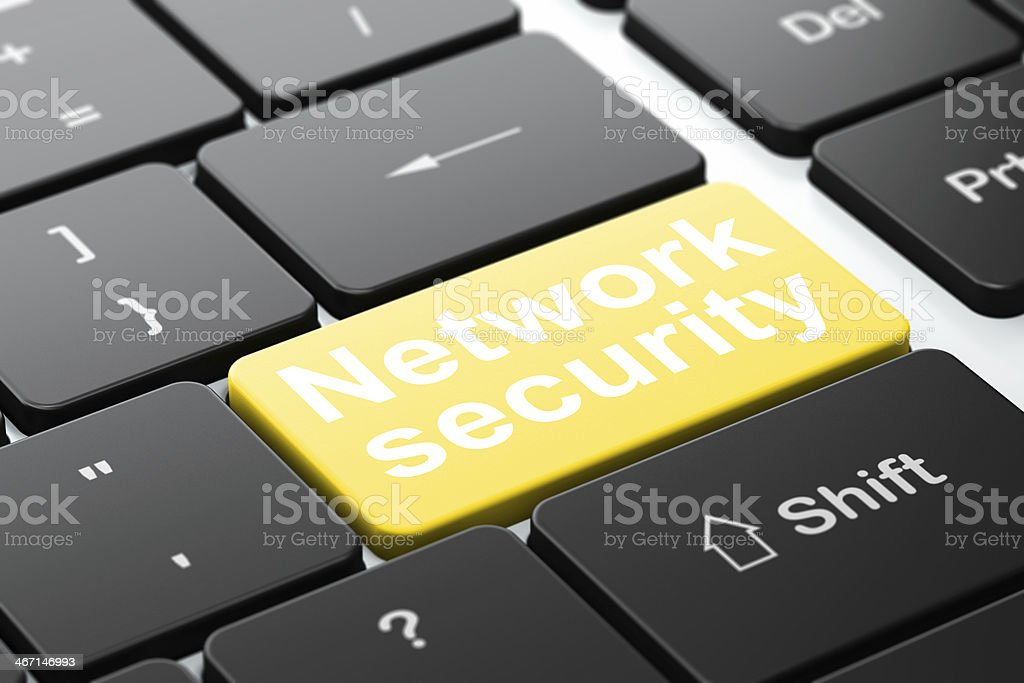Safety concept: Network Security on computer keyboard background royalty-free stock photo