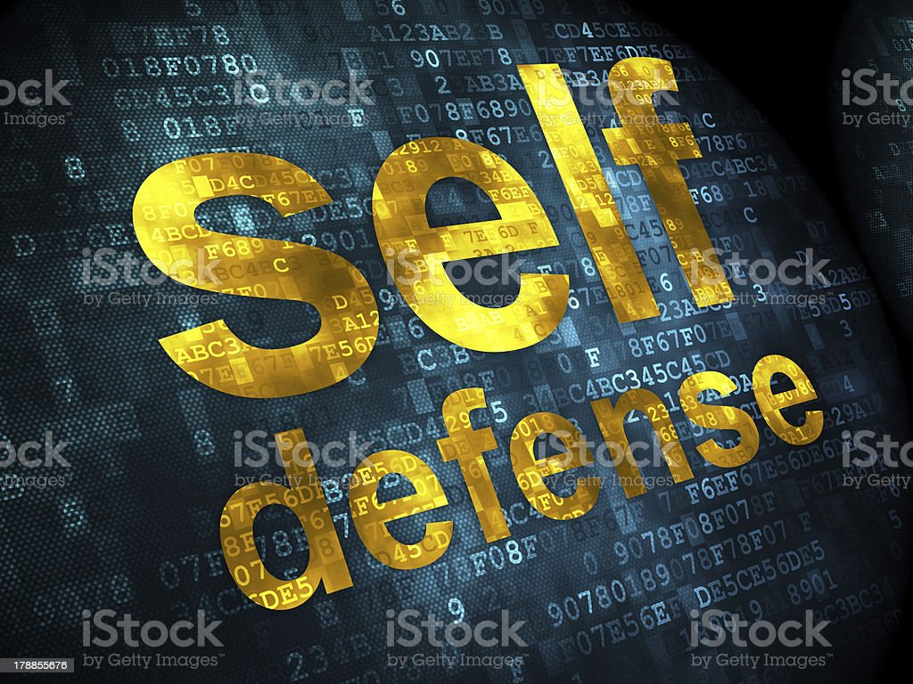 Safety concept: Self Defense on digital background royalty-free stock photo