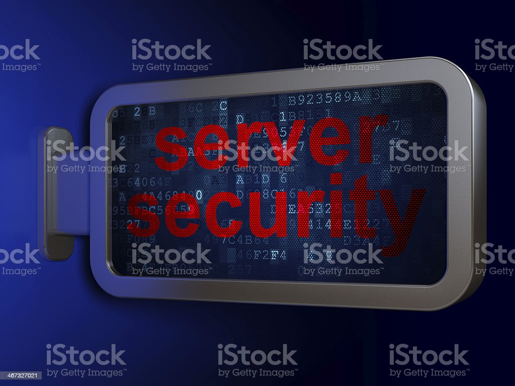 Safety concept: Server Security on billboard background royalty-free stock photo