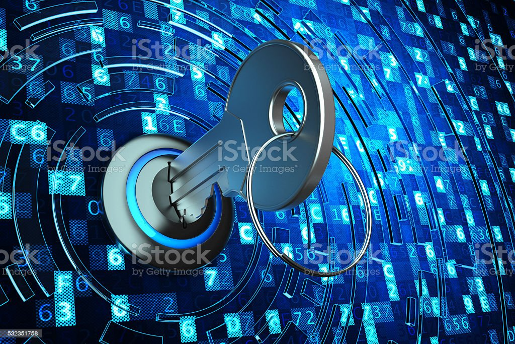 Safety data access, computer data protection and information security concept stock photo