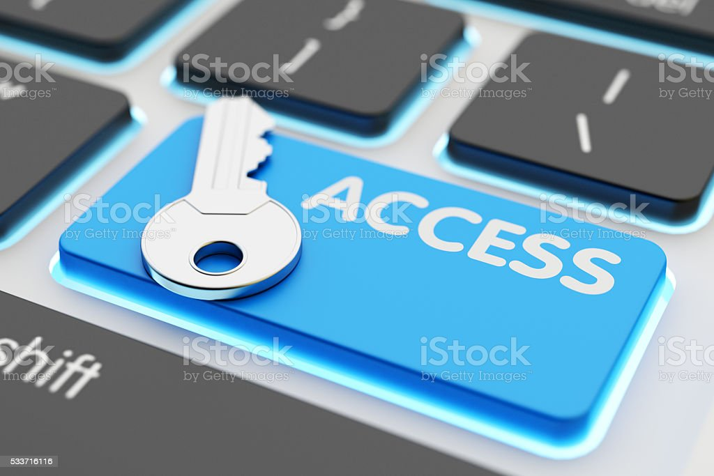 Safety data access, computer network security, accessibility and authorization concept stock photo