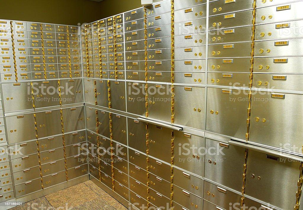Safety Deposit Boxes royalty-free stock photo