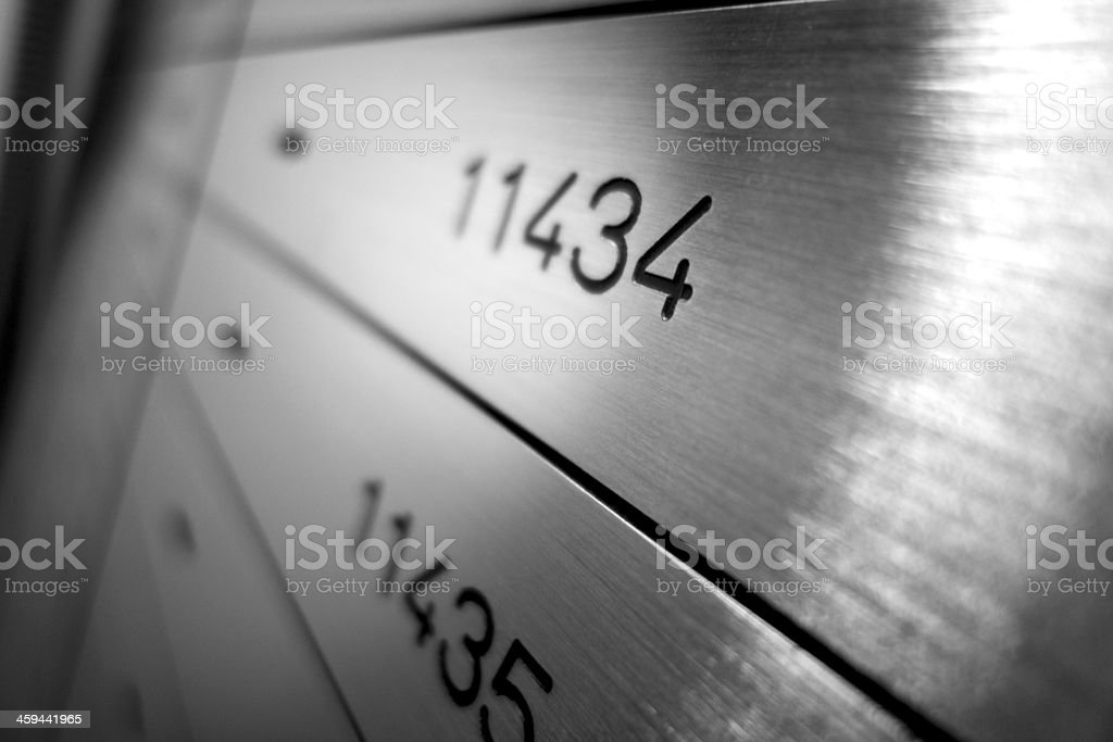 Safety Deposit Boxes stock photo