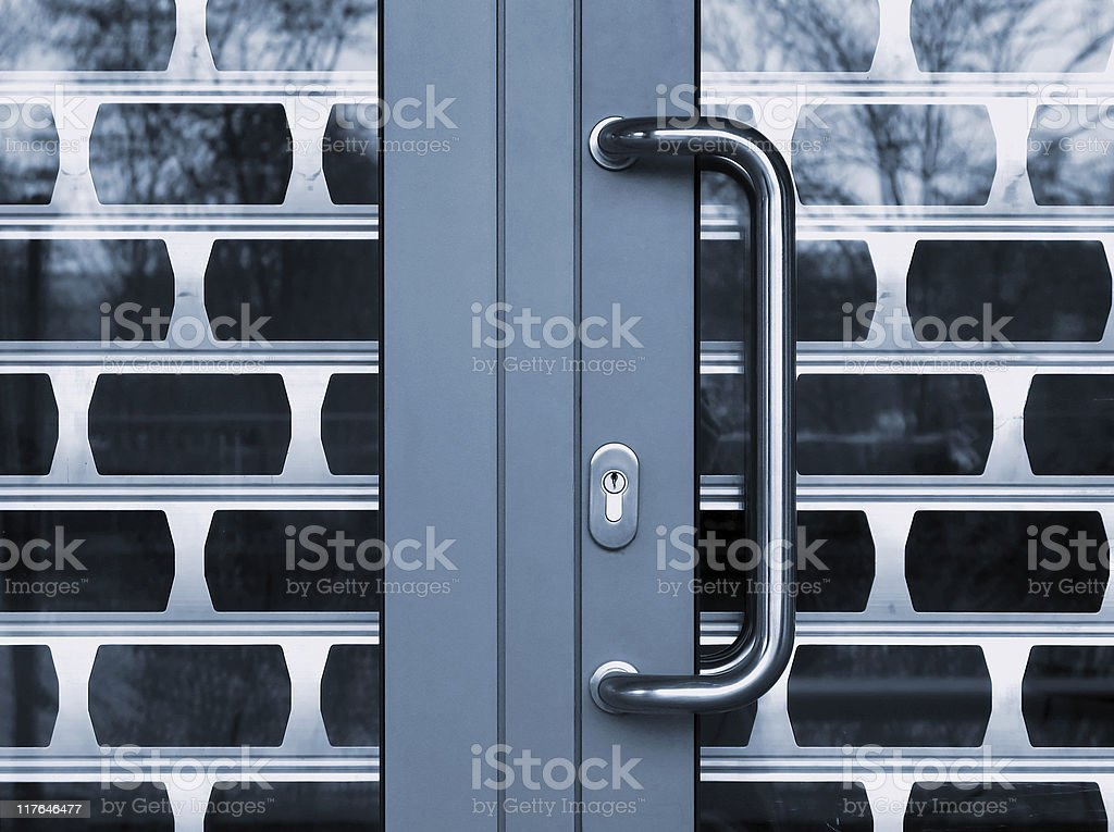 safety doors stock photo