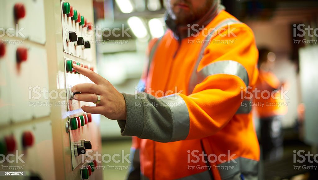 Safety engineer stock photo