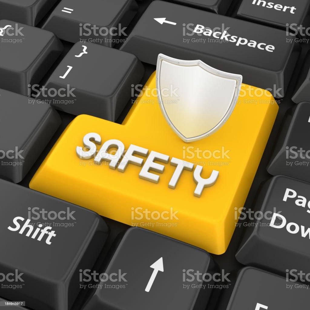 safety enter key stock photo