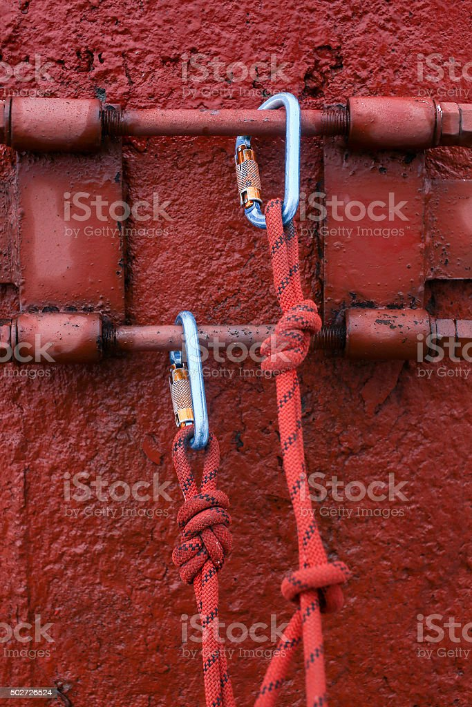 safety equipment for working at height stock photo