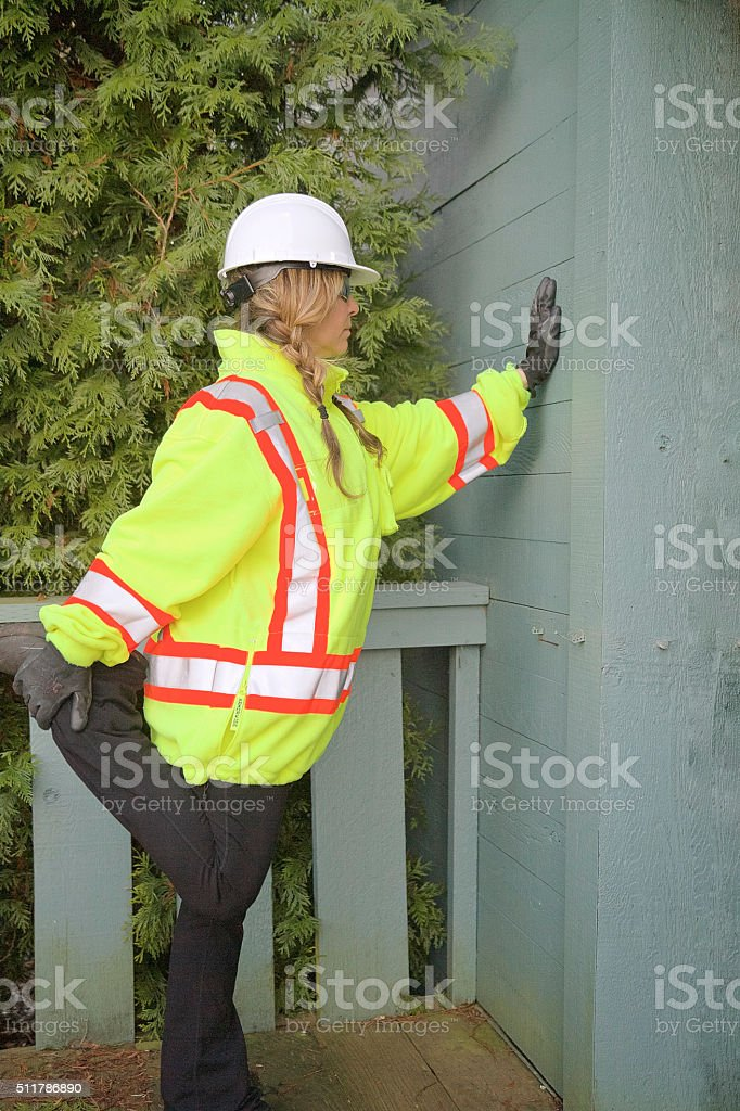 Safety excersize stock photo