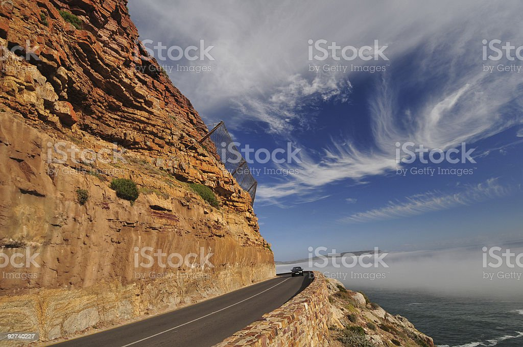 Safety Fence Chapmans Peak royalty-free stock photo