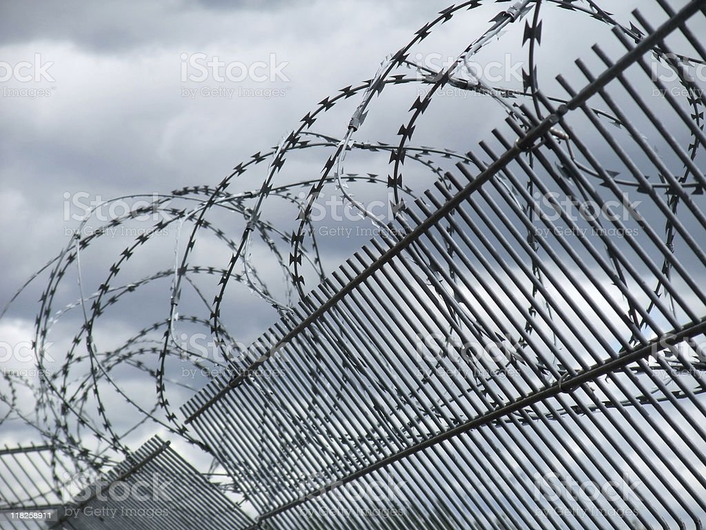 safety fence detail royalty-free stock photo