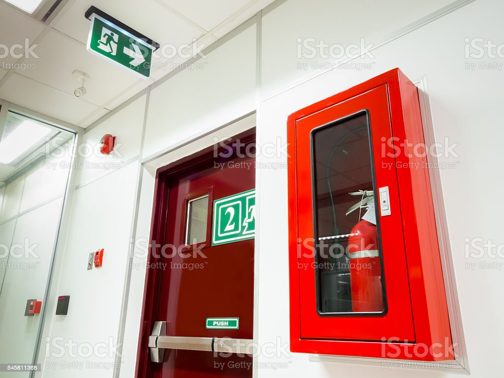 Safety fire system stock photo