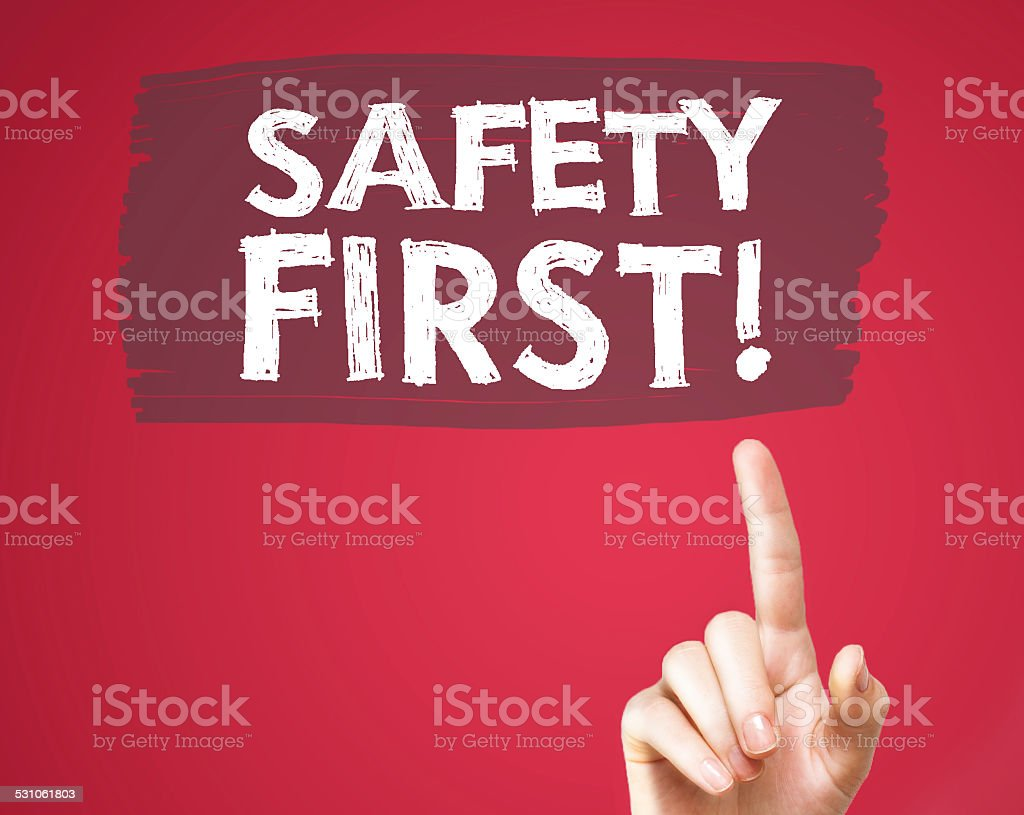 Safety first (Click for more) stock photo