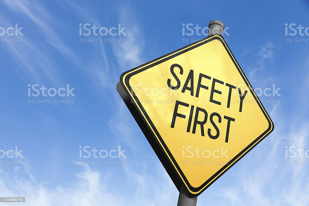 Safety First - Road Sign stock photo