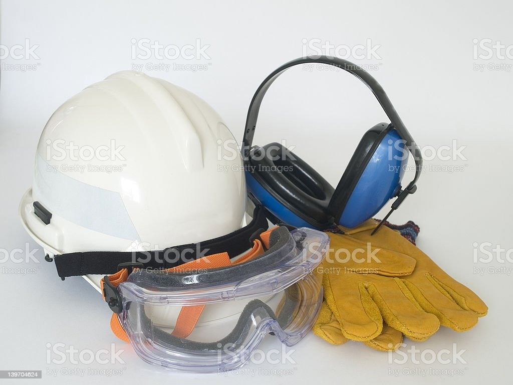 Safety gear stock photo
