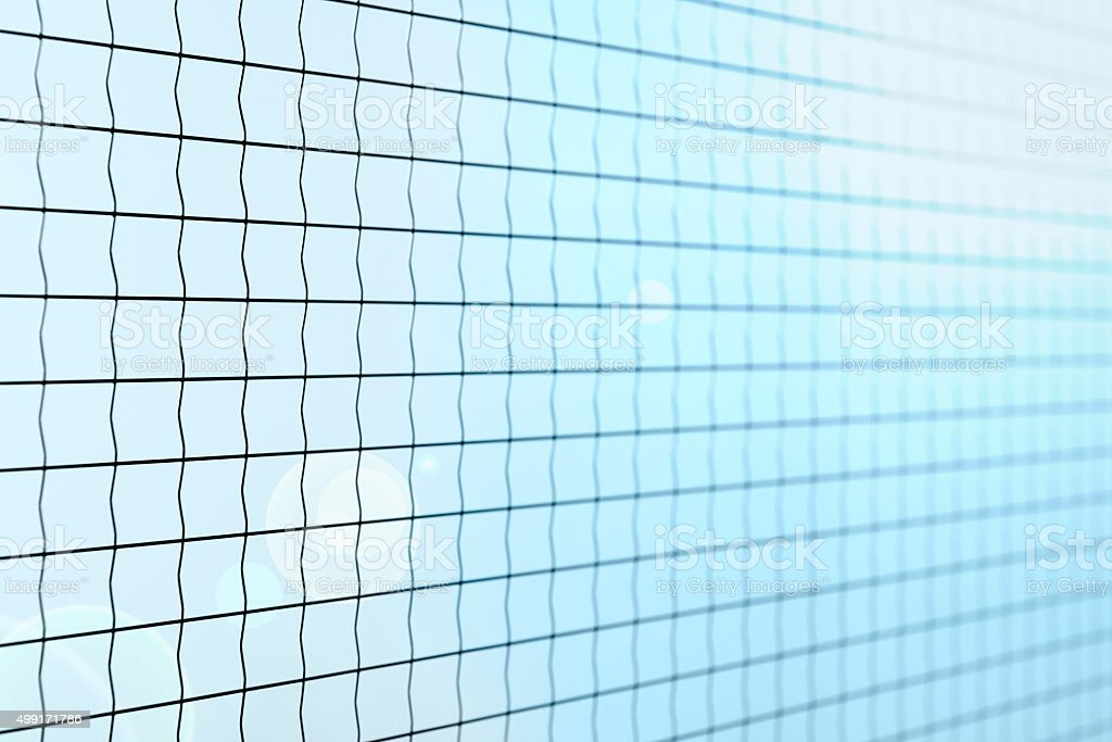 Safety glass with metal wire and flare stock photo