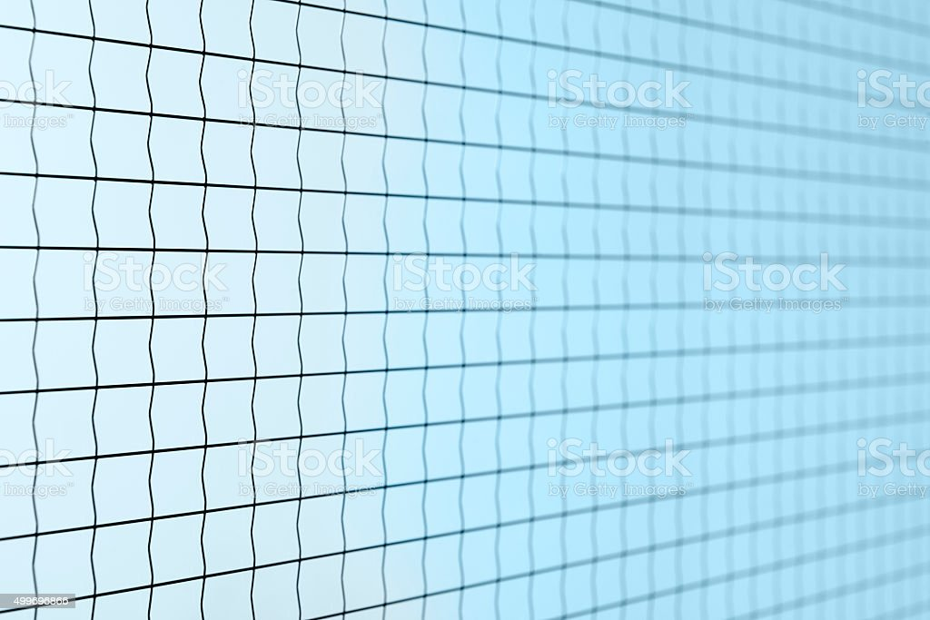 Safety glass with metal wire stock photo