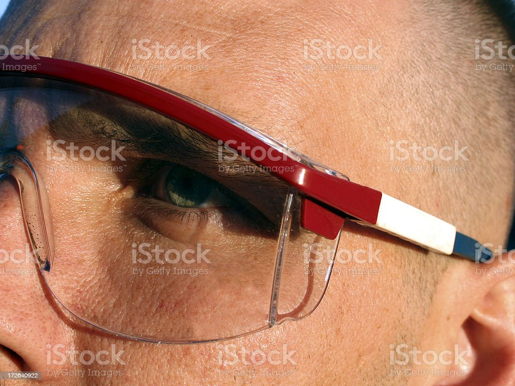 Safety Glasses First royalty-free stock photo