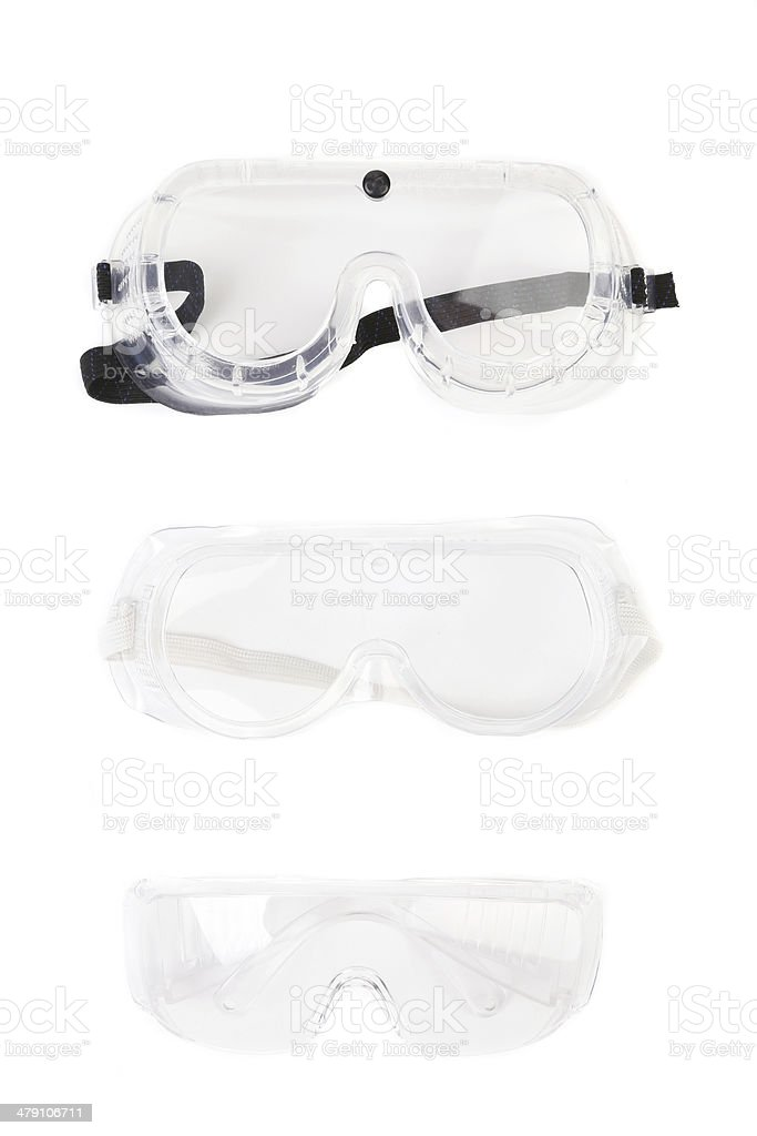 Safety glasses. stock photo
