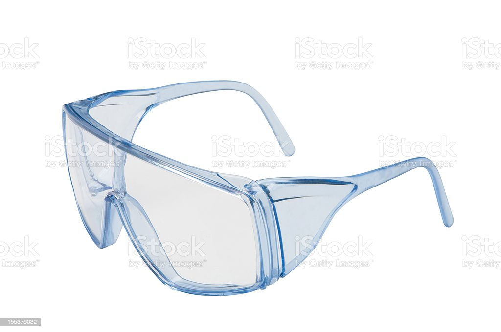 safety glasses with clipping path stock photo