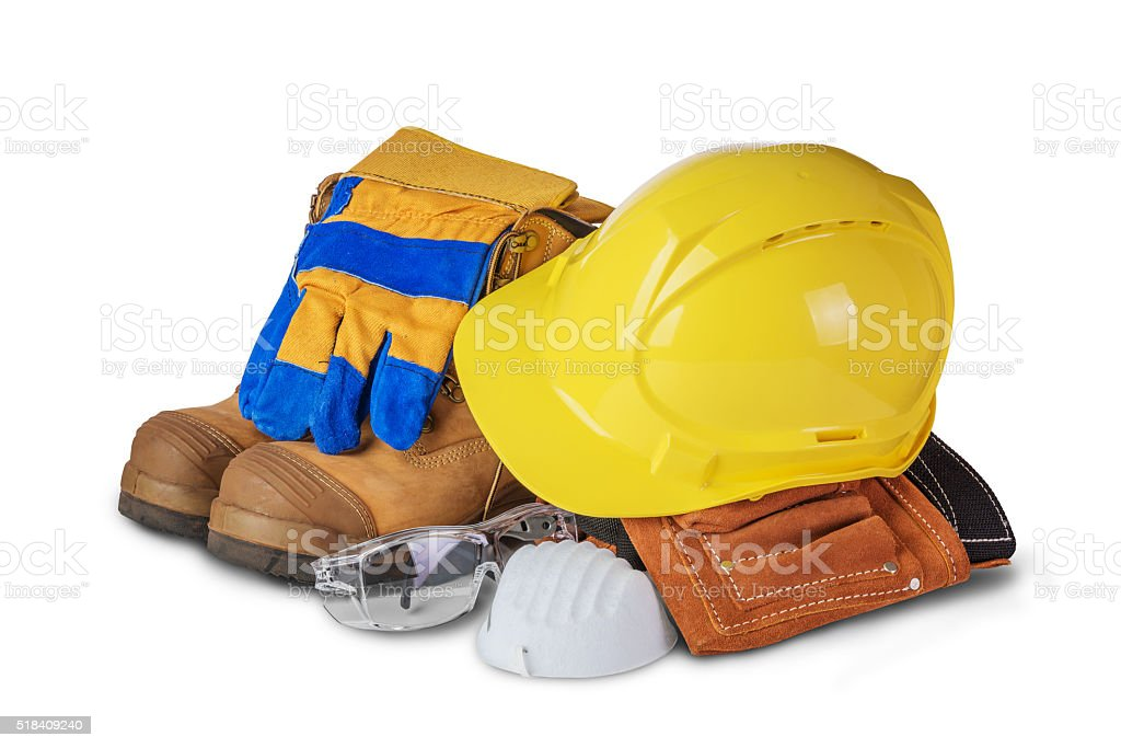 Safety industrial and construction equipment stock photo