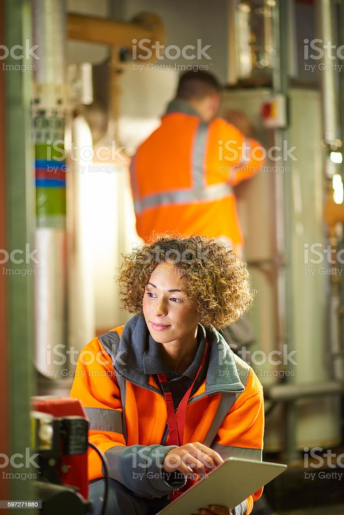 Safety inspection stock photo
