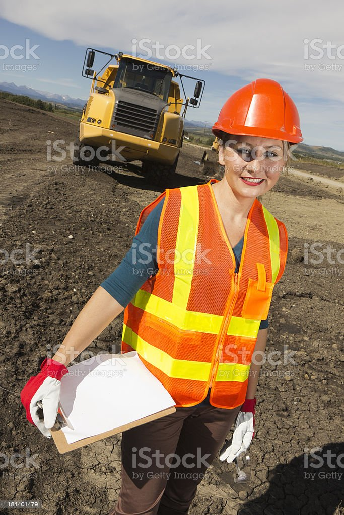 Safety Inspector royalty-free stock photo