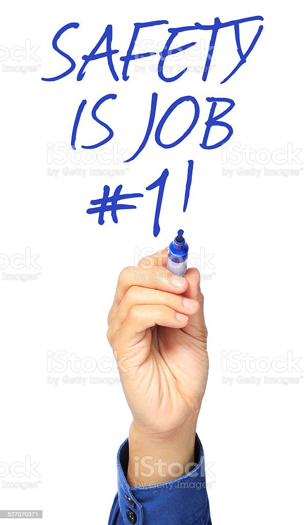 Safety Is Job Number One stock photo