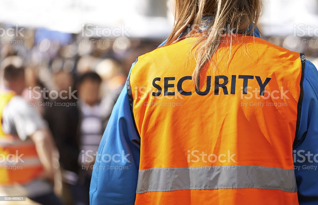 Safety is the main aim stock photo