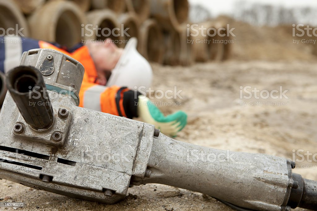 Safety is very inportant at work. Accidents can happen often. royalty-free stock photo