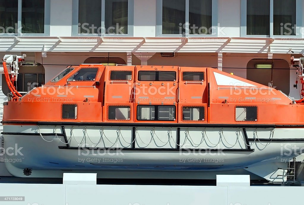 Safety lifeboat royalty-free stock photo