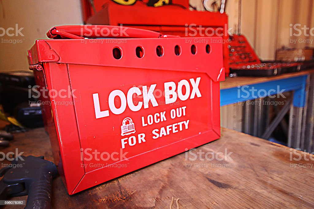 Safety Lock Box stock photo