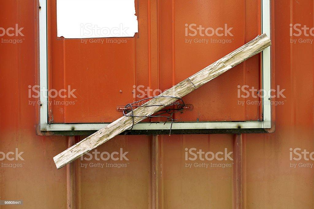 Safety lock royalty-free stock photo