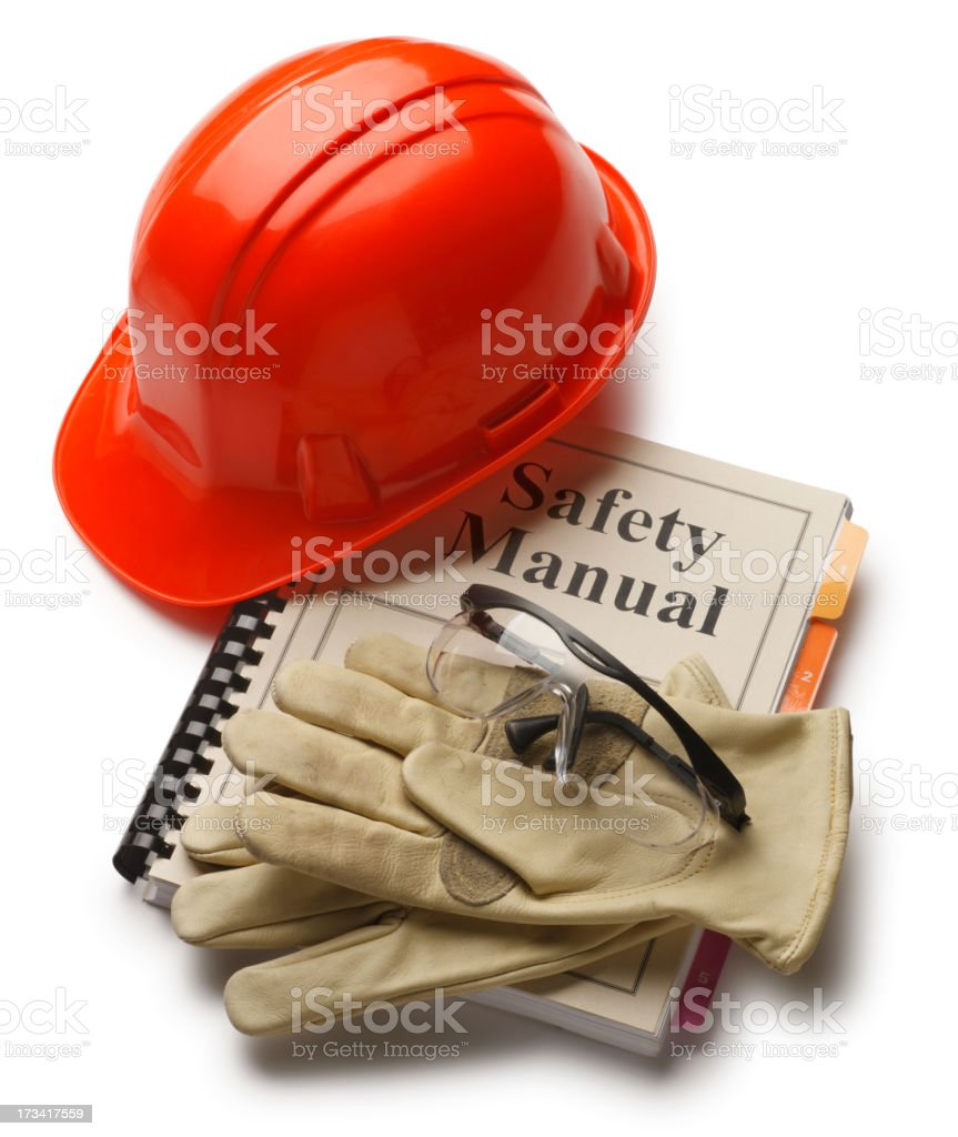 Safety Manual stock photo