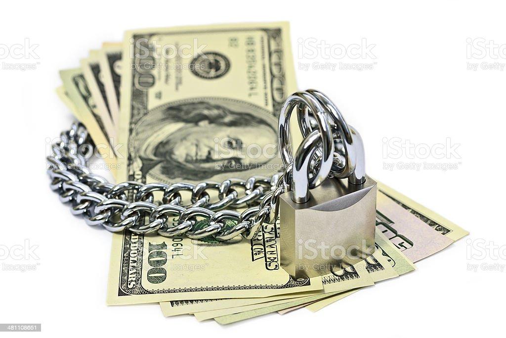 Safety money stock photo