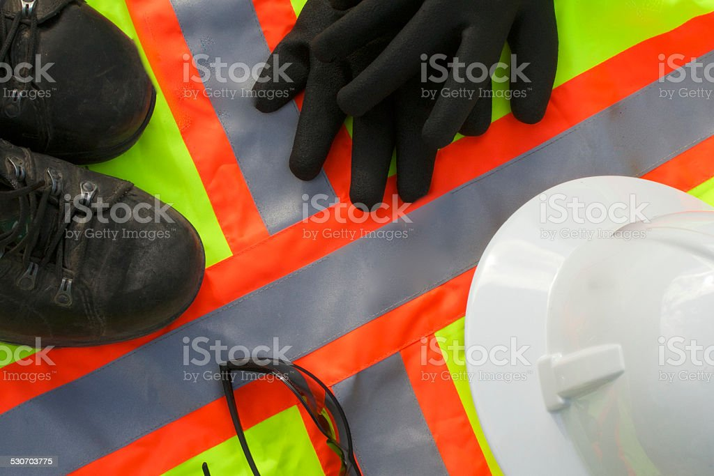 Safety personal protective gear stock photo