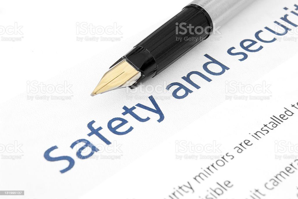 Safety & security Audit checklist royalty-free stock photo