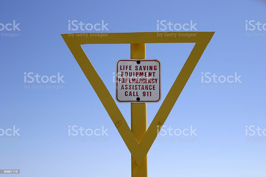 Safety sign royalty-free stock photo