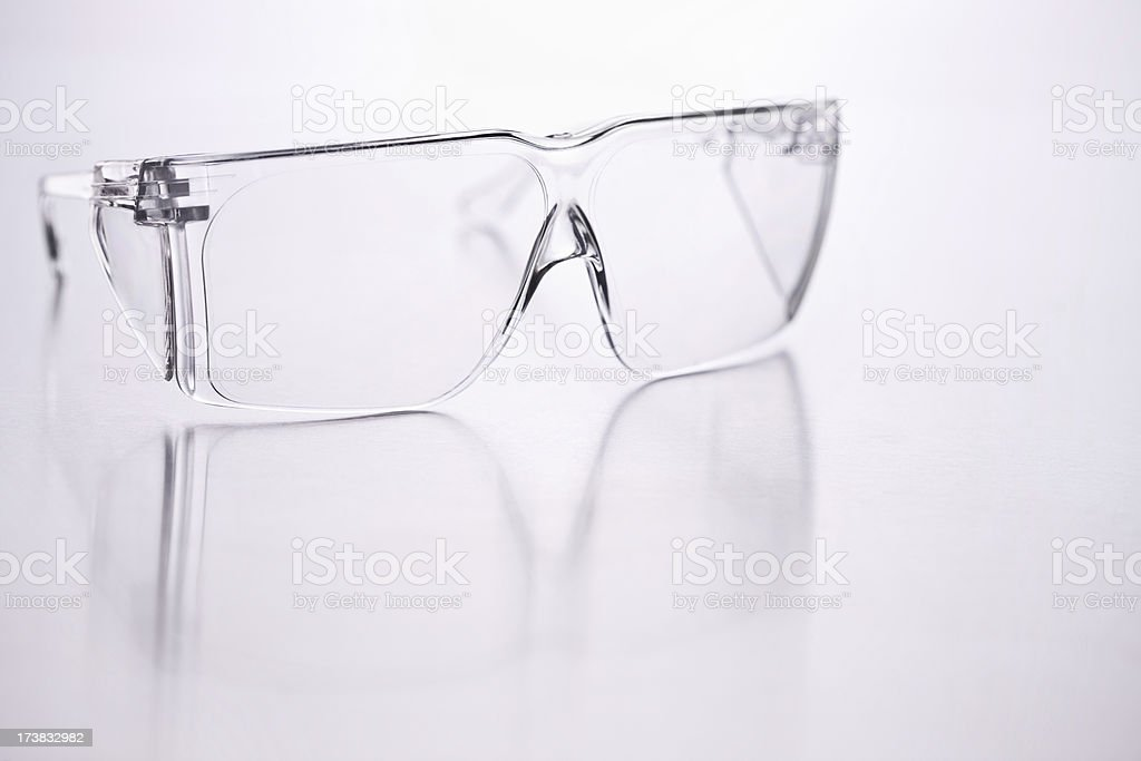 Safety spectacles over isolated background royalty-free stock photo