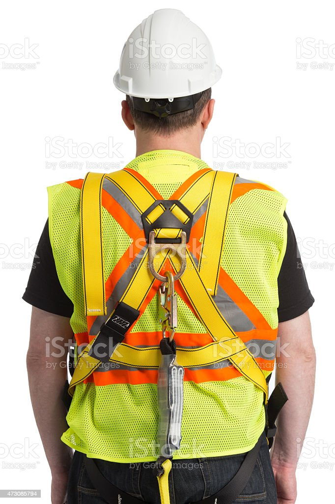 safety tether spring hook stock photo